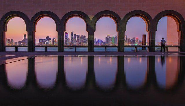the cultural museum doha qatar corniche west bay