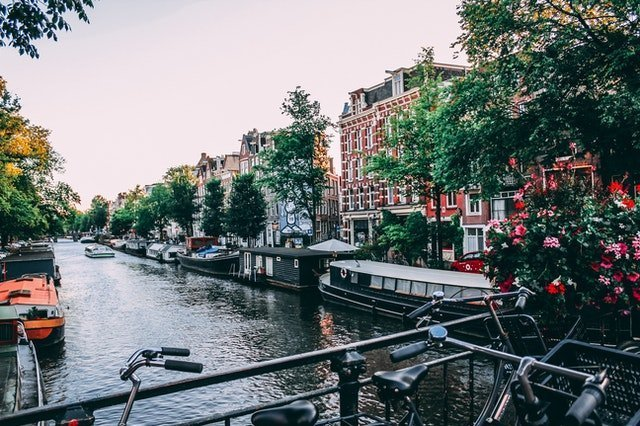 amsterdam canals in netherlands