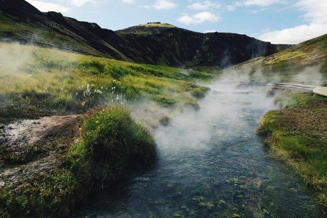 Reykjadalur geo thermal Steam Valley, Iceland