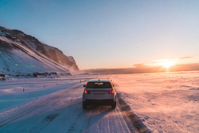 winter driving iceland